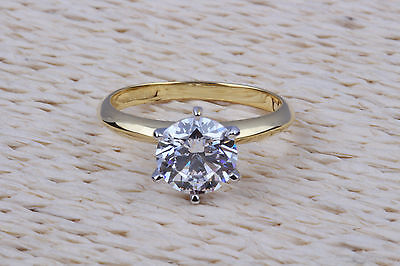 .56 Carat Real Diamond Solitaire Engagement Ring 14K Yellow Gold