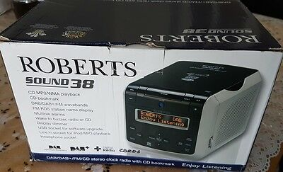 Roberts Radio SOUND38 CD Clock DAB/FM Radio with CD Bookmark Function NEW