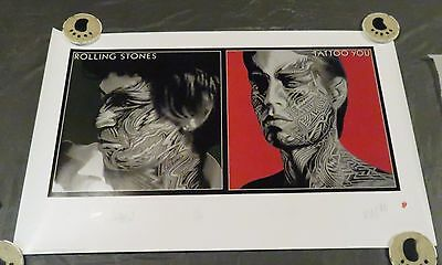 Rolling Stones - Plate signed Tattoo You Poster - #2644 Jagger, Richards
