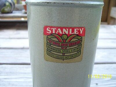 Vintage Stanley Stainless steel thermos N944 cork good condition 1963 Landers