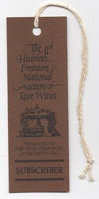 Vintage 1979 Heublein 11th Premiere National Auction Rare Wine Subscriber TICKET