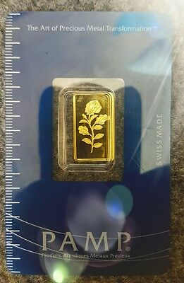 Gold bullion  2.5 g Gram Pamp Suisse Fortuna Blister 99,99 Gold *7 day sale*