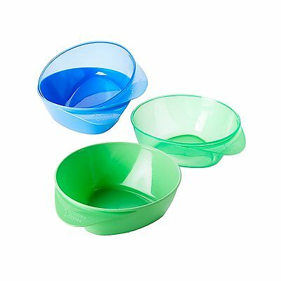 Tommee Tippee Easy Scoop Feeding Bowls, 4 Count, Blue/Green