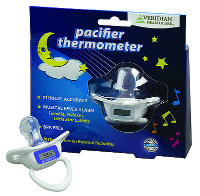 Pacifier Oral Digital Thermometer New Veridian Healthcare Include Auto Shut Off
