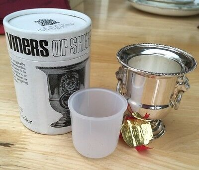 Vintage Viners Of Sheffield Miniature Wine Cooler Boxed 1974 Silver Plated