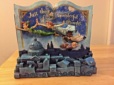 Disney Jim Shore Peter Pan Storybook Off to Neverland 4049643