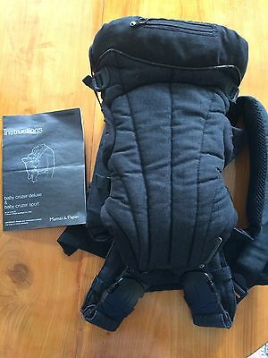 Mamas And Papas Baby Carrier Deluxe, In Charcoal Hardly Used 3.6kg To 9kg