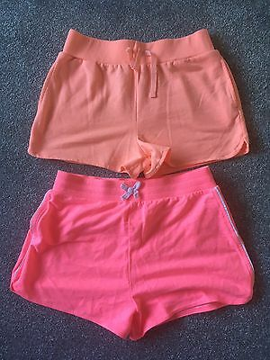 Pack Of Two Girls Shorts Pink And Orange Age 11-12