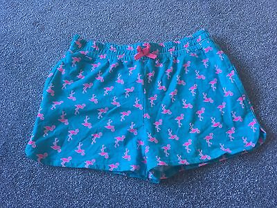 Girls Flamingo Shorts Pink And Turquoise Age 12-13 Years