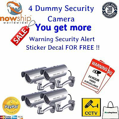4 SecurityCamera-Dummy-Fake Indoor Outdoor CCTV Dummy Security Camera LED Light