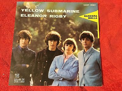 Beatles: Yellow Submarine/Eleanor Rigby  1966 Italy Parlophon Qmsp16397 Ed B.G