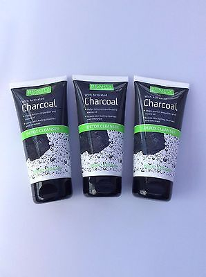 3 x 150ml Beauty Formulas Detox Cleanser with Activated Charcoal