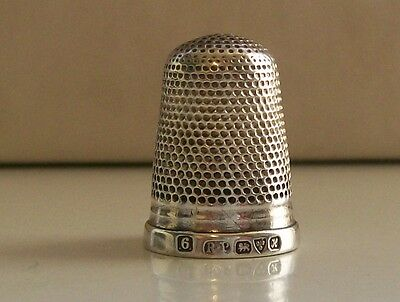 Nice Solid Silver Thimble (6) Robert Pringle Hallmarked Chester 1908