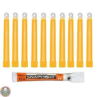 Cyalume Technologies Tg: Pack Of 10Pcs Orange Cyalume Bastoncini Nuovo
