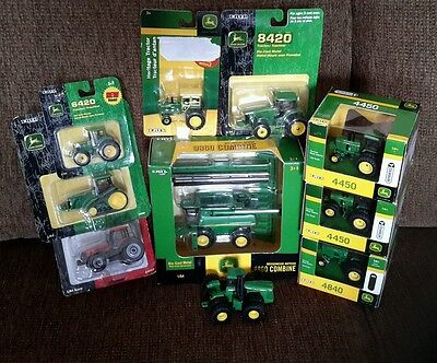 1:64 John Deere Toy Tractors Lot of 10 (NEW IN BOX)