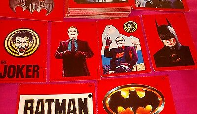 Job Lot 50 BATMAN Topps 1989 Cards/Stickers