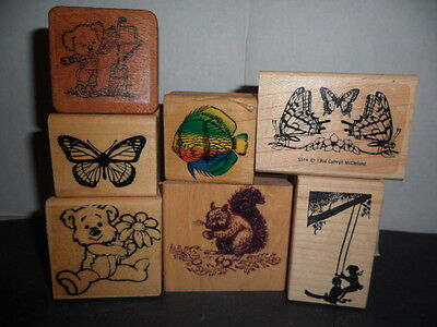 Lot Of 7 Assorted Scrapbooking Stamps