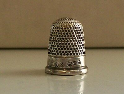 Nice Old Antique Charles Horner Solid Silver Thimble Chester 1910