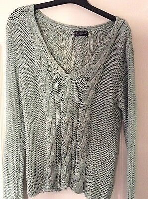 Aura Knit - Mint Green Jumper - fits Size 14