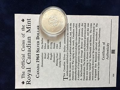 Royal Canadian Mint 1964 Proof Silver Dollar (Commemorative)