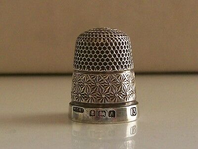 Lovely Henry Griffiths & Sons Silver Thimble Hallmarked Birmingham 1925