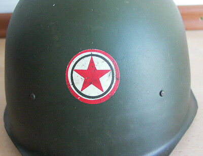 HUNGARIAN, M1951 Helmet w front badge .