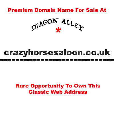 crazyhorsesaloon.co.uk - Premium Domain Name For Sale Genuine Sale UK Seller