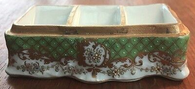 Antique Dresden Porcelain Stamp Holder