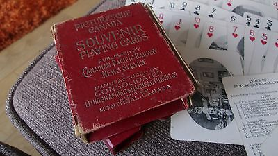 Antique Souvenir Playing Cards Picturesque Canada Canadian Pacific Railway Cards
