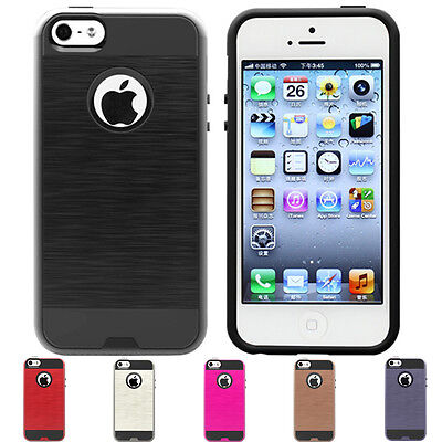 ShockProof Hard Armor Slim Hybrid Phone Case Cover iPhone 5 5s SE Protector