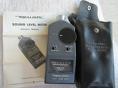 Realistic Sound Level Meter, Radio Shack, Cat. No. 42-3019