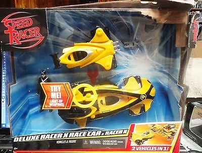 Speed Racer X Race Car - 2 Vehicles in 1 + Figure - Damaged BOX - New