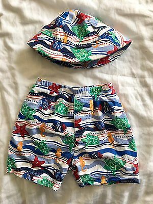 jojo maman bebe Swim Shorts And Sun Hat