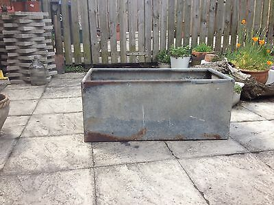 Industrial Vintage galvanised tank trough planter herb or flower Garden trough