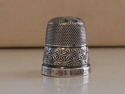 Sterling Silver Thimble (18) Made In England, Damage to the Top