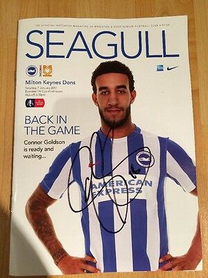 Brighton v M K Dons, FA Cup 3rd Rnd, 7th January 17, Signed by Connor Goldson