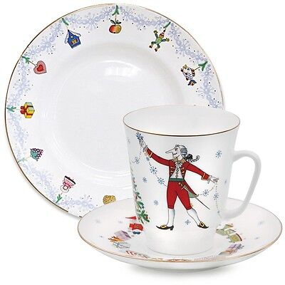 Imperial Lomonosov Porcelain Tea Cup Saucer Plate Nutcracker Ballet 3-pc. SALE