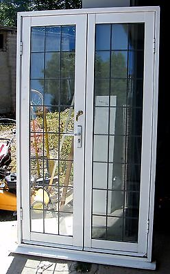 Aluminium leaded glass double glazed french doors 175 for Double glazed french doors