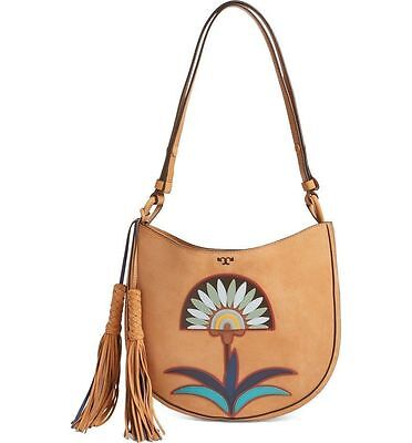 NWT Tory Burch Lilium Hobo Shoulder Handbag Purse in Camello