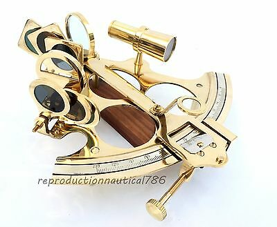 Solid Brass Marine Working Sextant Collectible Navy Ship Navigation Sextant Gift