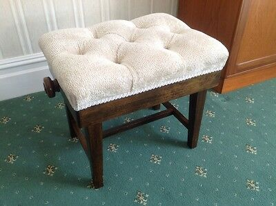 Adjustable Piano Stool - Single Padded - Exc Quality And Condition - BRISTOL
