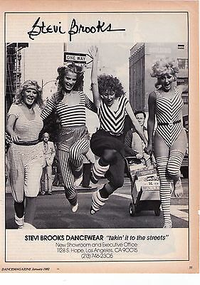 "(2) 1982 Stevi Brooks Dancewear ""Takin' It To The Streets/ The Gym"" Print Ads"