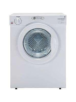 NEW White Knight C37AW 3kg Load Compact Vented Dryer Table Top Dry