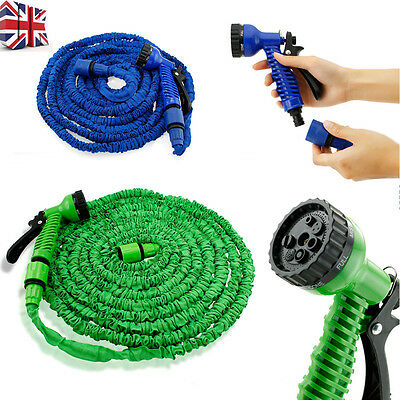 50FT-150FT Expandable Hose Elastic Compact Home Garden Hose Pipe With Spray Gun