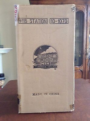 MTH Tinplate Traditions #116 Passenger Station White & Red 10-1070 NRFB