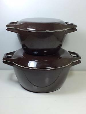 Pair of mid century Copco cast iron ovens  D1,D2 made in  Denmark
