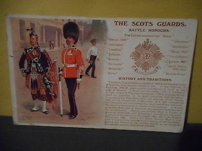 WWI Postcard,The Scots Guards,Battle Honours,History & Traditions