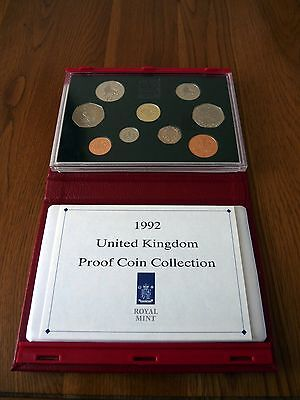1992 Proof Royal Mint year set inc Very RARE EEC duel dated 50p