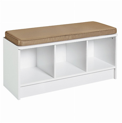 Cubeicals 3 Cube Storage Bench Cushion Top Shelf Seating Home Office KItchen