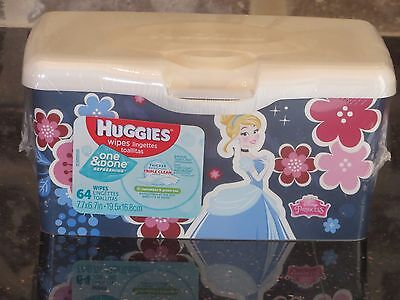 DISNEY PRINCESS - Huggies Cucumber & Green Tea baby wipes. 64 count. New.
